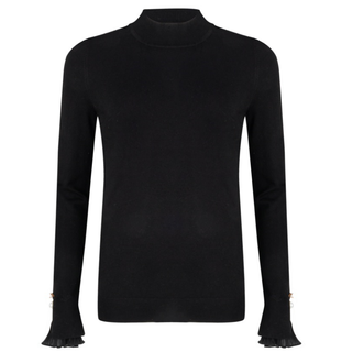 Zwarte sweater chiffon 07512