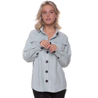 Mintgroene corduroy blouse Jaimy
