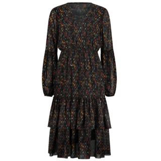 Zwarte jurk Francy Midi