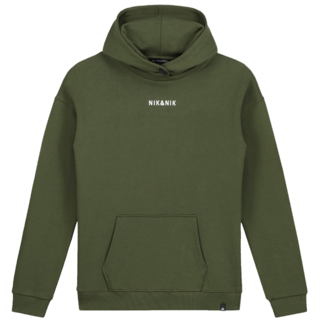 Donkergroene hoodie Moses