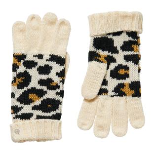 Beige leopard handschoen Djina