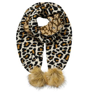 Beige leopard sjaal Donja