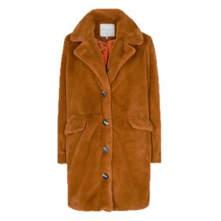 Caramelbruine jacket Kaia