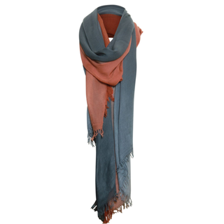 Blauw geprinte sjaal