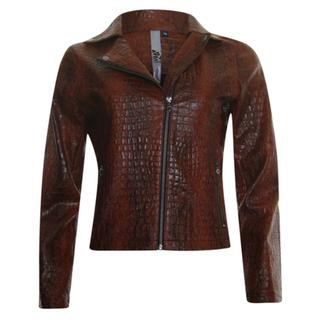 Bruine croco jacket 33140
