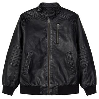 Zwarte faux leather jacket Mike