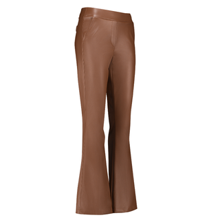 Cognac broek Flair Faux Leather
