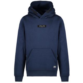 Donkerblauwe hoodie Pearser