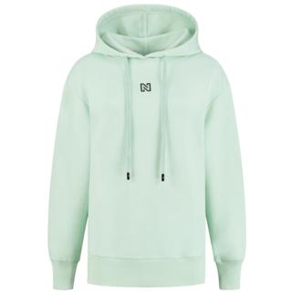 Mintgroene hoodie Round Back Logo