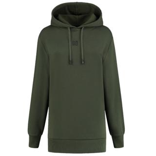 Groene hoodie Round Back Logo
