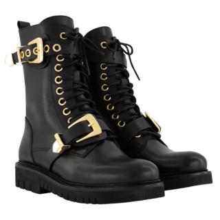 Zwarte boots Dua Buckle