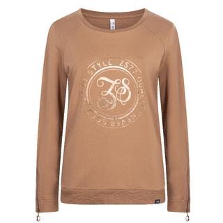 Cognac sweater met print Alice