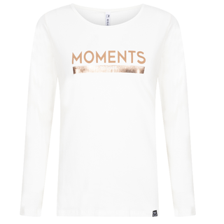 Witte top met print Moments