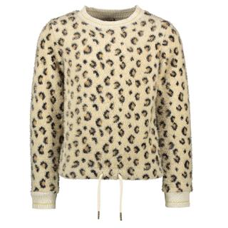 Beige animal knit sweater 5325