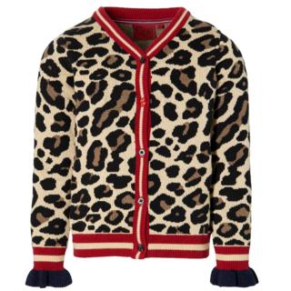 Beige leopard vest Demira