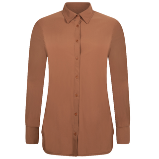 Cognac travel blouse Linda