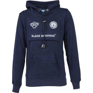 Donkerblauwe hoodie Anorak Kangaroo