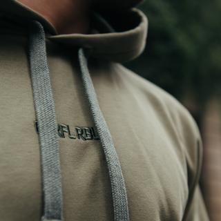 Olijfgroene basic hoodie CLRFL RBL