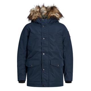 Donkerblauwe parka jacket Sky