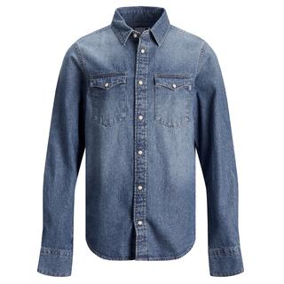 Blauwe denim blouse Western Sheridan