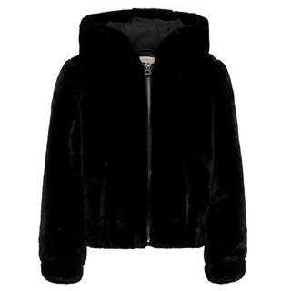 Zwarte faux fur jacket Malou