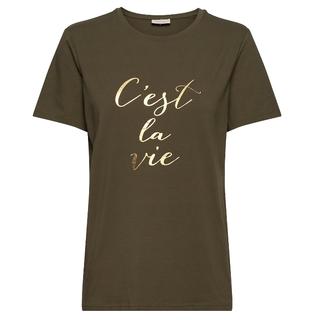 Olijfgroen t-shirt Linea