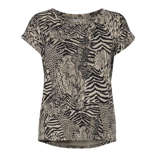 Bruin geprint t-shirt Helle