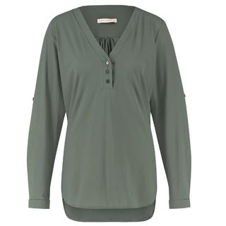 Mosgroene blouse Evi