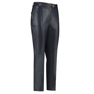 Donkerblauwe faux leather broek Romy