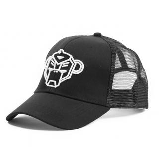 Zwarte truckercap Logo