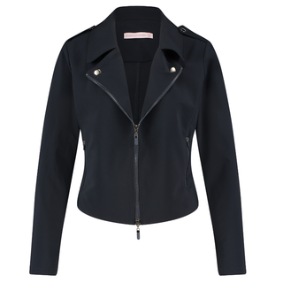 Donkerblauwe jacket Biker Travel