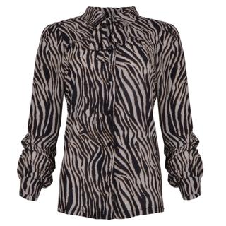 Tijgerprint blouse Raia
