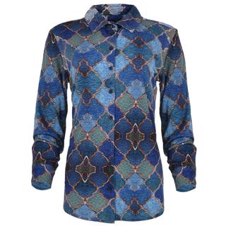 Blauw geprinte blouse Garbi
