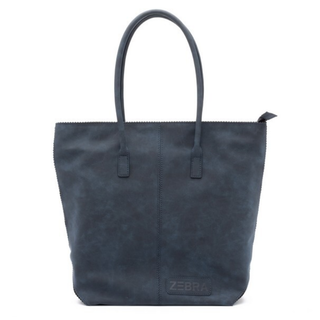 Donkerblauwe kartel Natural Bag