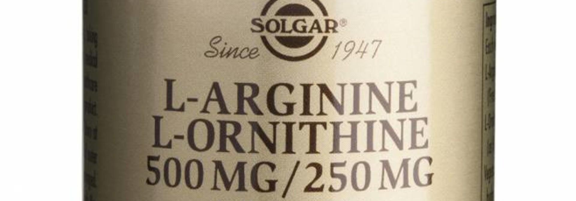L-Arginine/L-Ornithine 500/250 mg 50 plantaardige capsules