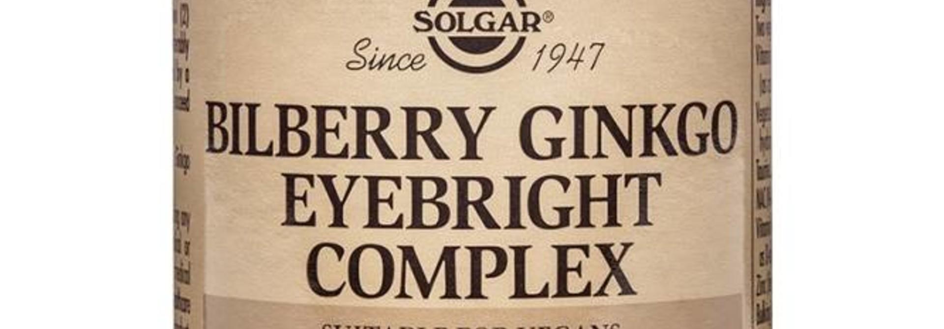 Bilberry Ginkgo Eyebright Complex 60 plantaardige capsules
