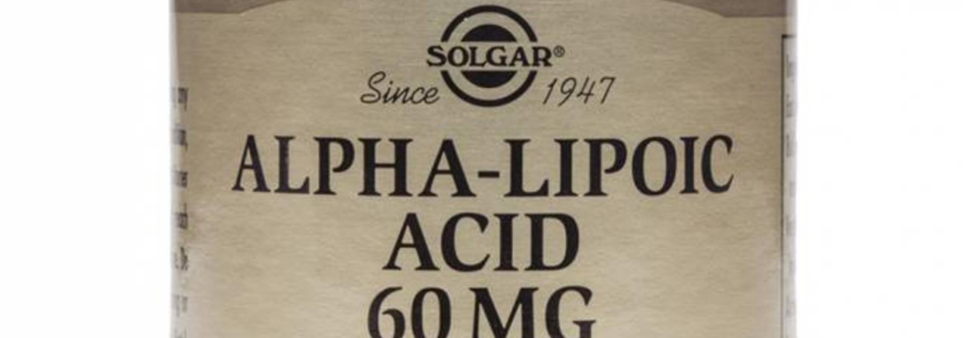 Alpha Lipoic Acid 60 mg 30 plantaardige capsules