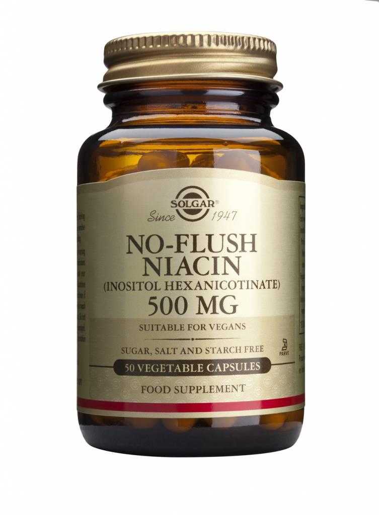 No-Flush Niacin 500 mg 50 plantaardige capsules-1