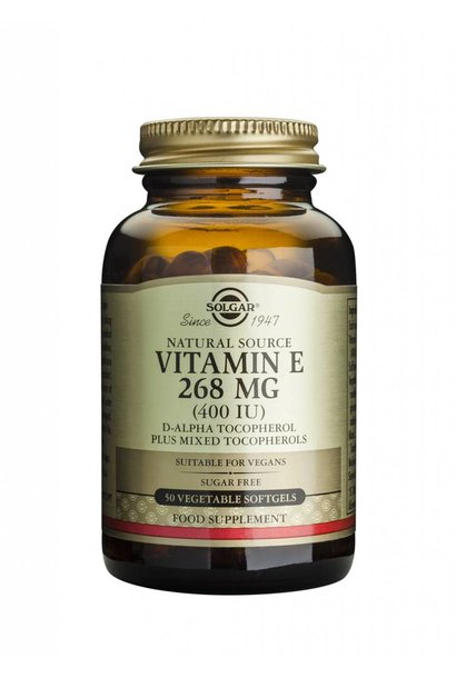 Vitamin E 268 mg/400 IU Vegan 50 plantaardige softgels