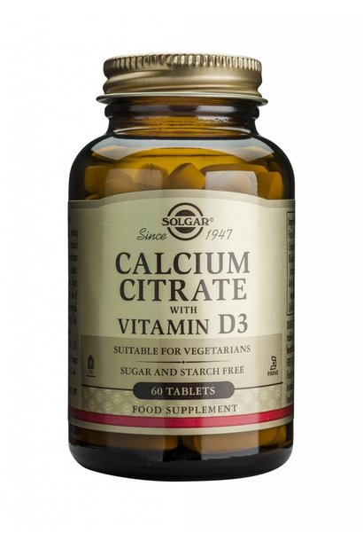 Calcium Citrate with Vitamin D-3 60 tabletten