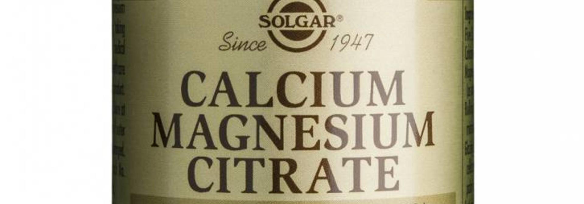 Calcium Magnesium Citrate 250 tabletten