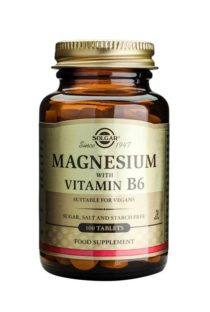 Magnesium with Vitamin B-6 100 tabletten