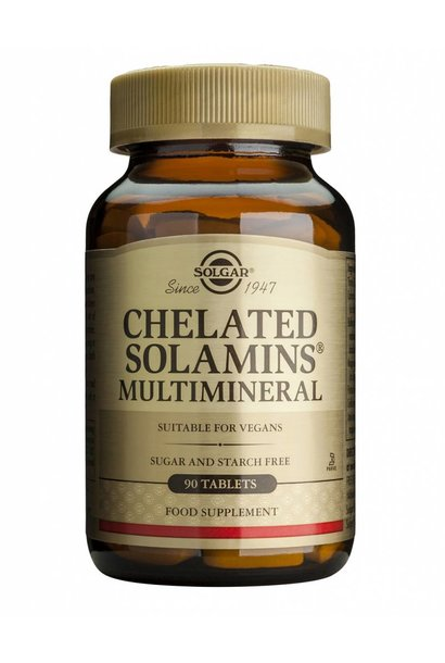 Chelated Solamins® Multimineral 180 tabletten