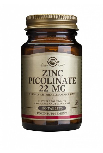 Zinc Picolinate 22 mg 100 tabletten