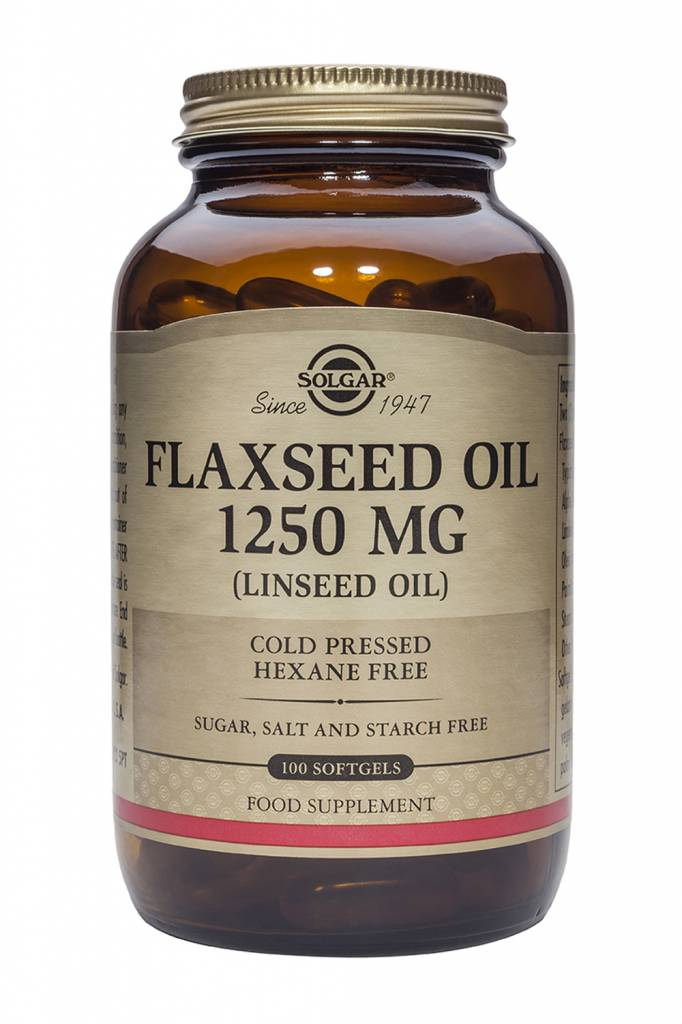 Flaxseed Oil 1250 mg 100 softgels-1