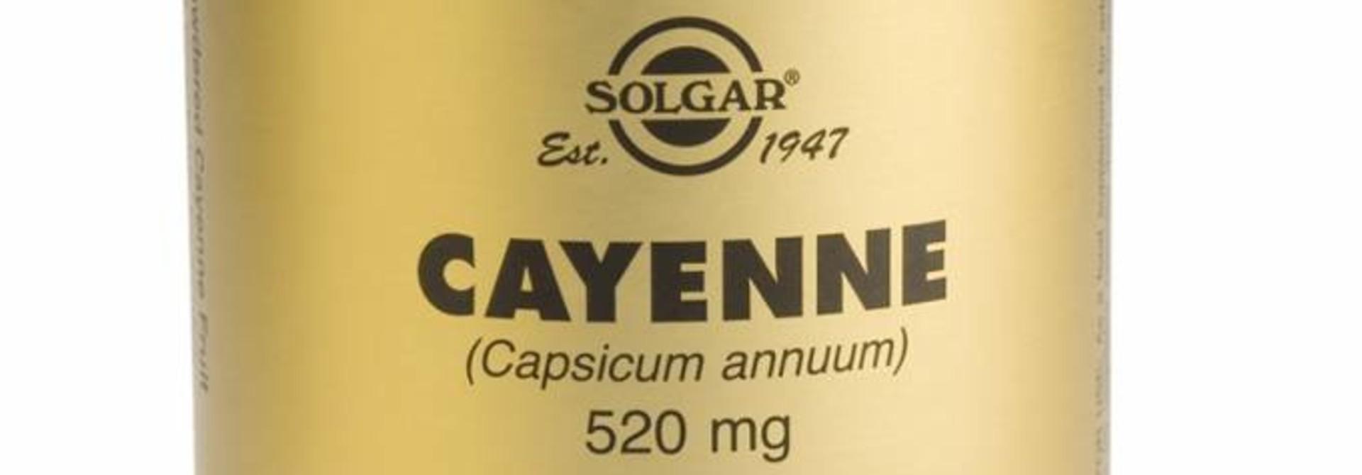 Cayenne 100 plantaardige capsules