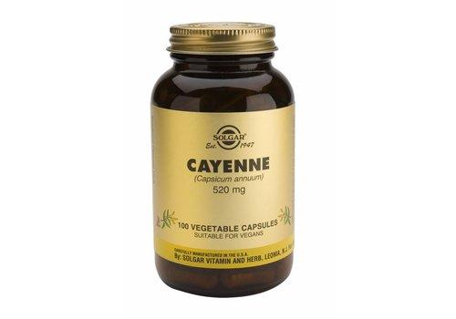 Solgar Cayenne 100 plantaardige capsules