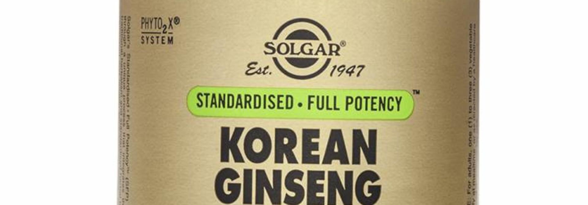 Ginseng Korean Root Extract 60 plantaardige capsules