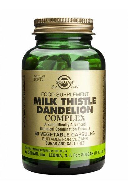 Milk Thistle/Dandelion Complex 50 plantaardige capsules