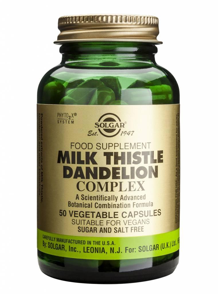 Milk Thistle/Dandelion Complex 50 plantaardige capsules-1